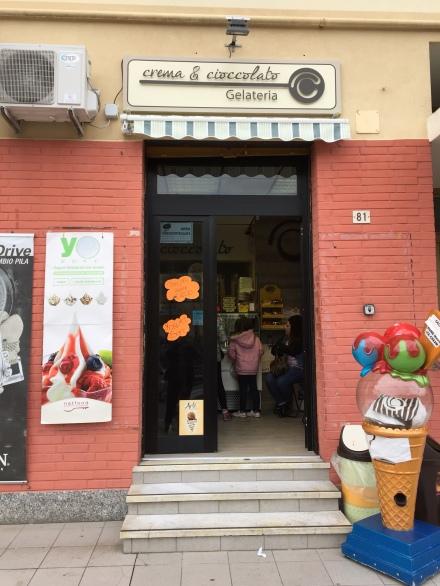 La Gelateria Crema e Cioccolato in via Poiré 81